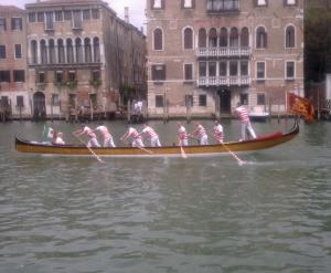 Ruderer in Venedig